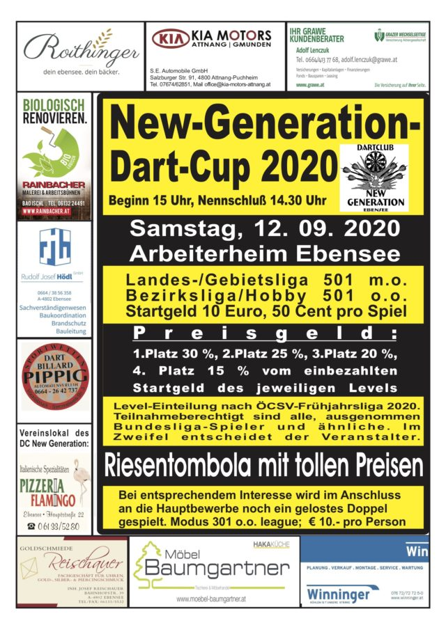 Flyer New Generation Dart Cup